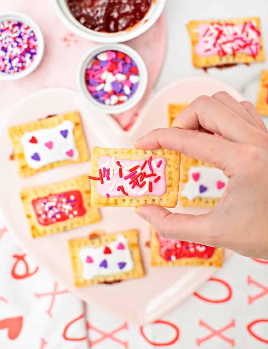 Mini Valentine Pop Tarts - Valentine Treat for Kids