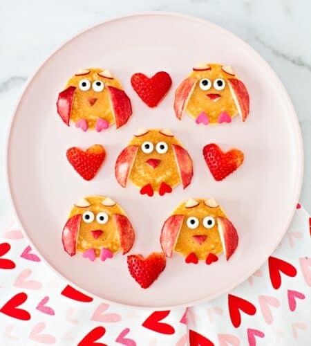 Valentine Pancake Owls