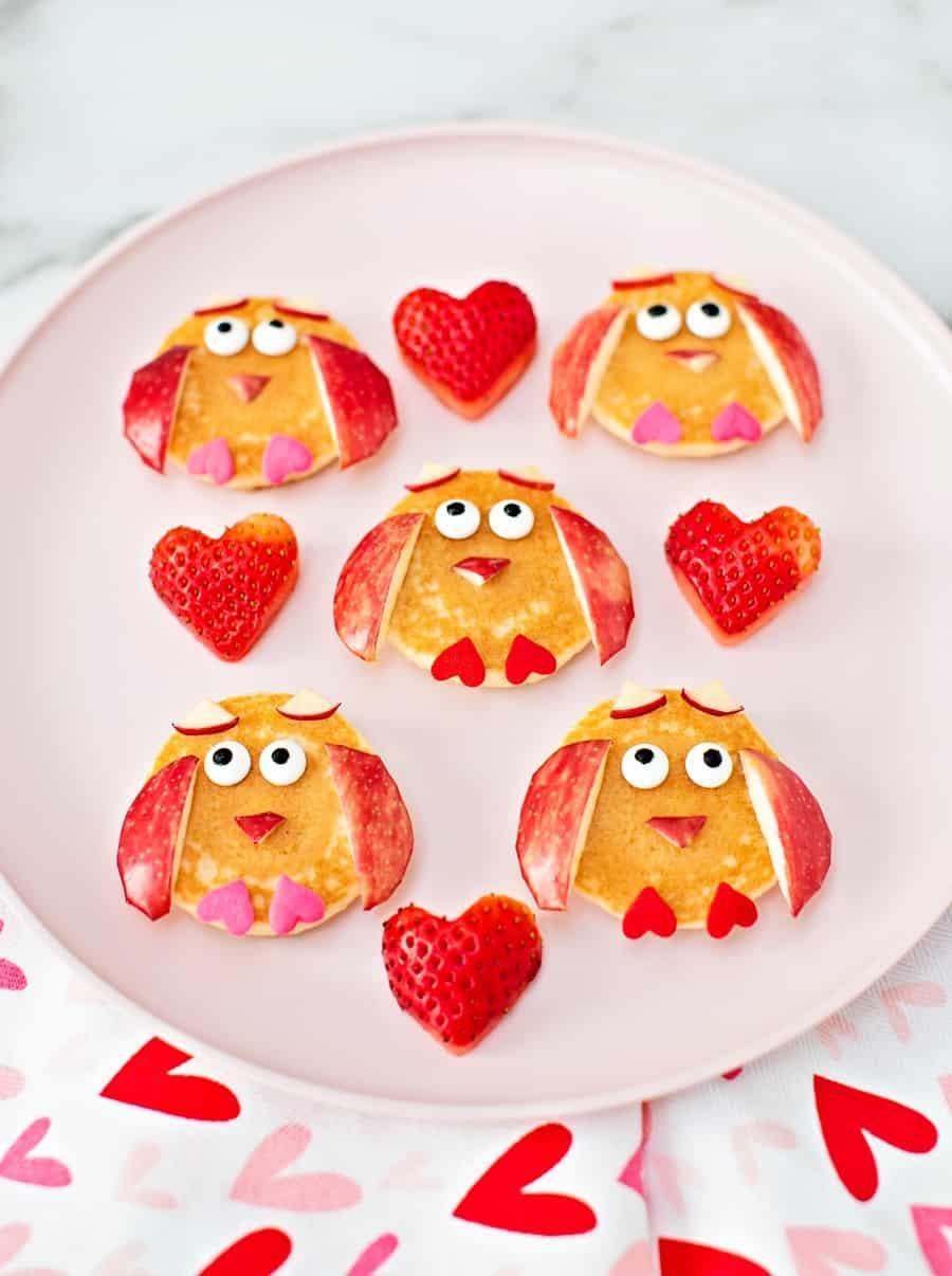 Valentine Pancake Owls - Valentine breakfast for kids