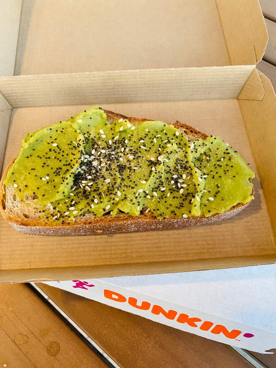Dunkin' Donuts Avocado Toast - We tried it and here's what it tastes like