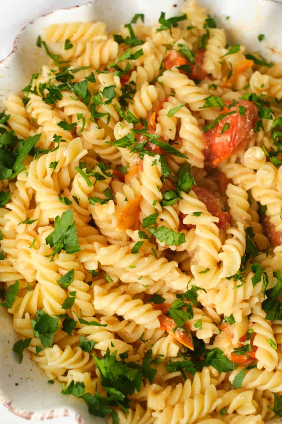 Herb and Goat Cheese Tomato Pasta