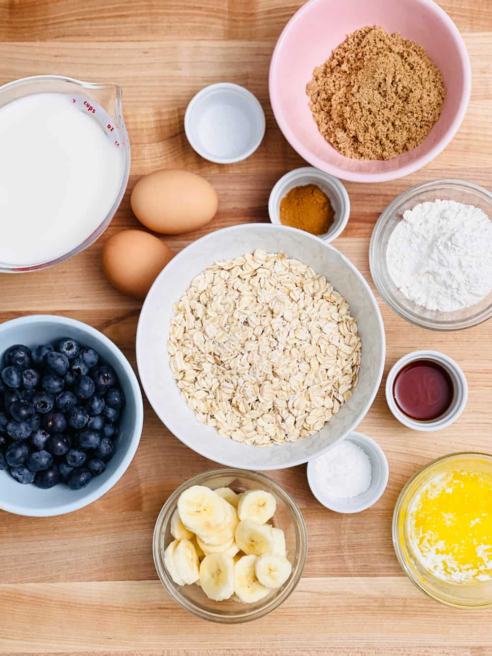baked oats recipe and ingredients