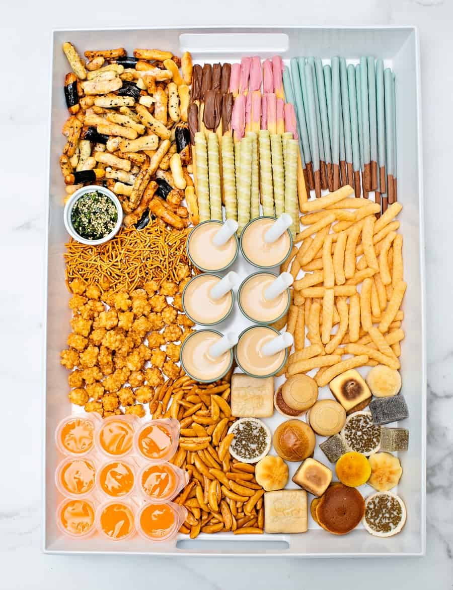 Asian Snacks Charcuterie Board - Best Chinese New Year Snacks