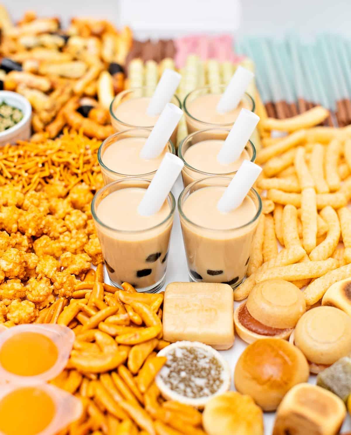 Asian Snacks Charcuterie Board