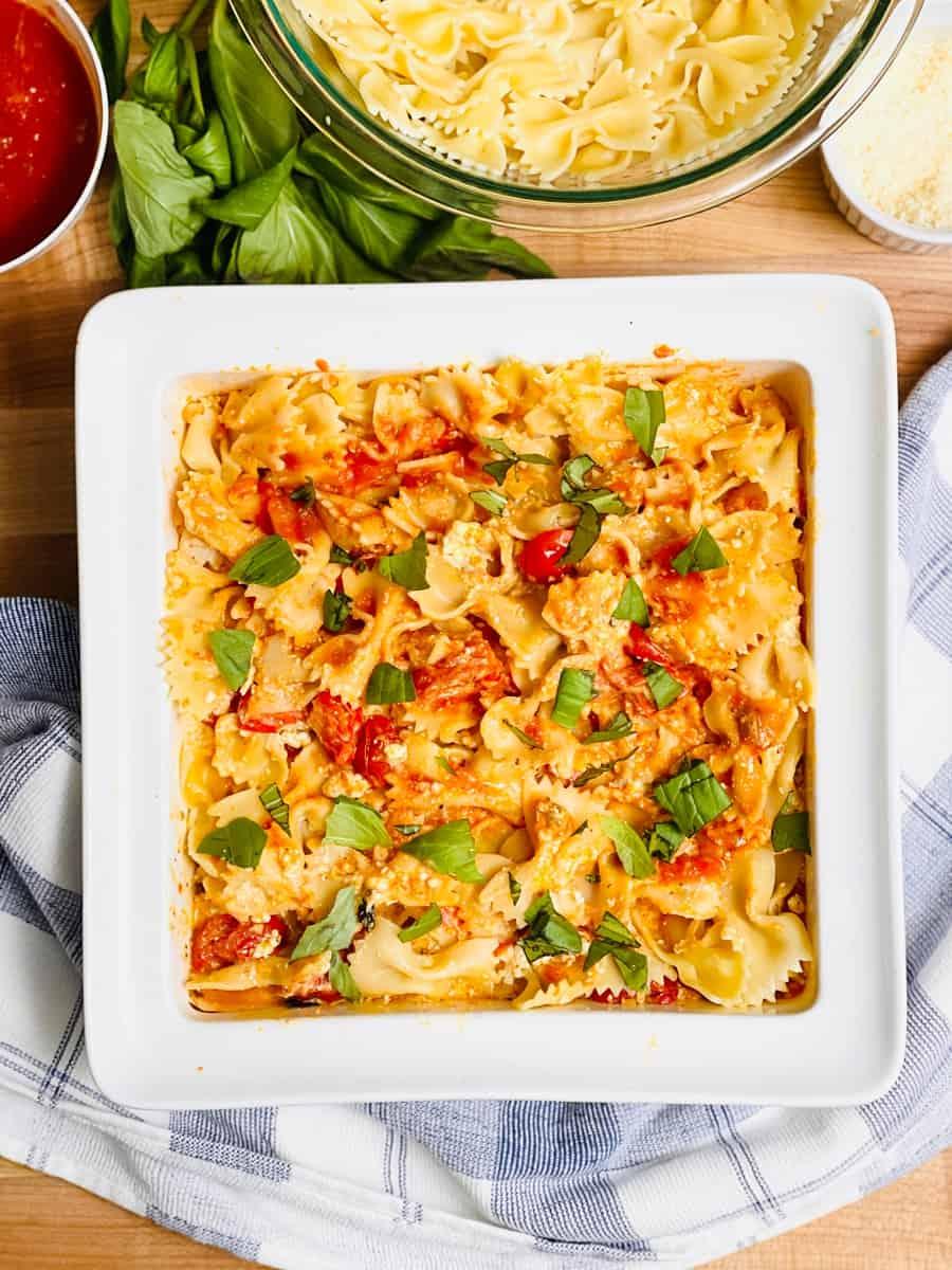 TikTok Baked Feta Pasta Recipe