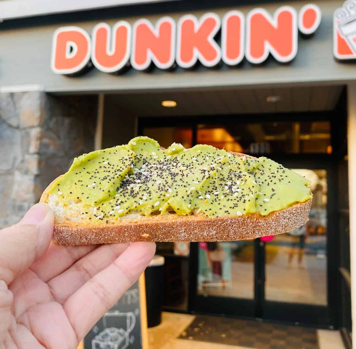 We Tried Dunkin' Donuts Avocado Toast – Here's What It Tastes Like