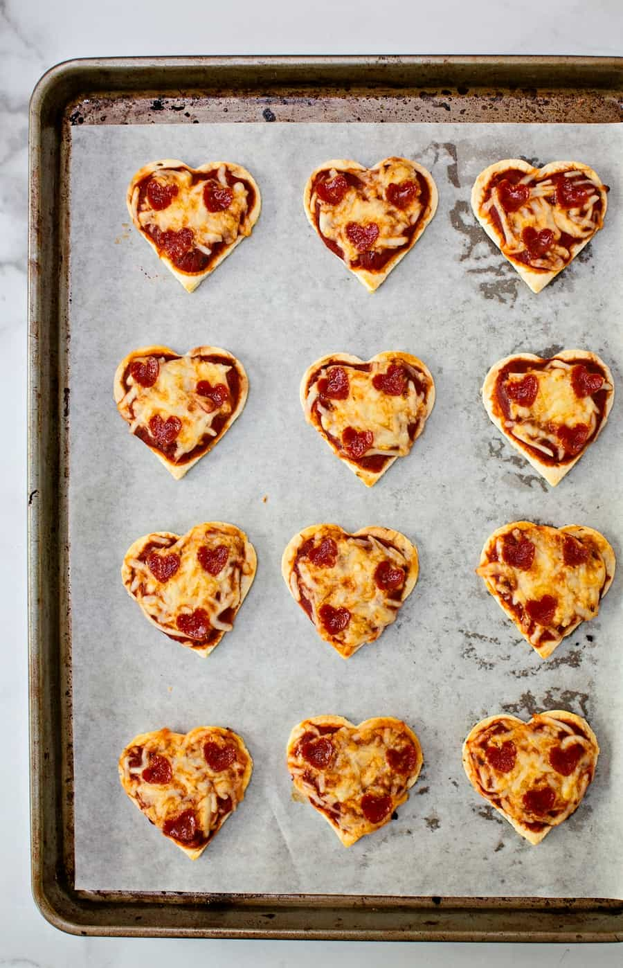heart pizza valentine recipe
