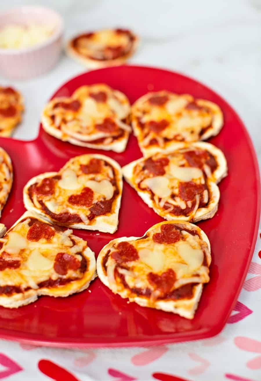 valentine pizza lunch