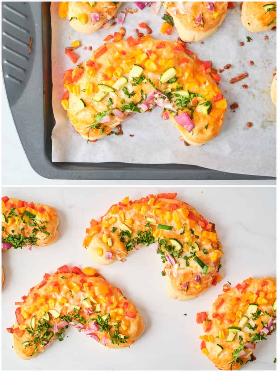 Mini Rainbow Pizzas