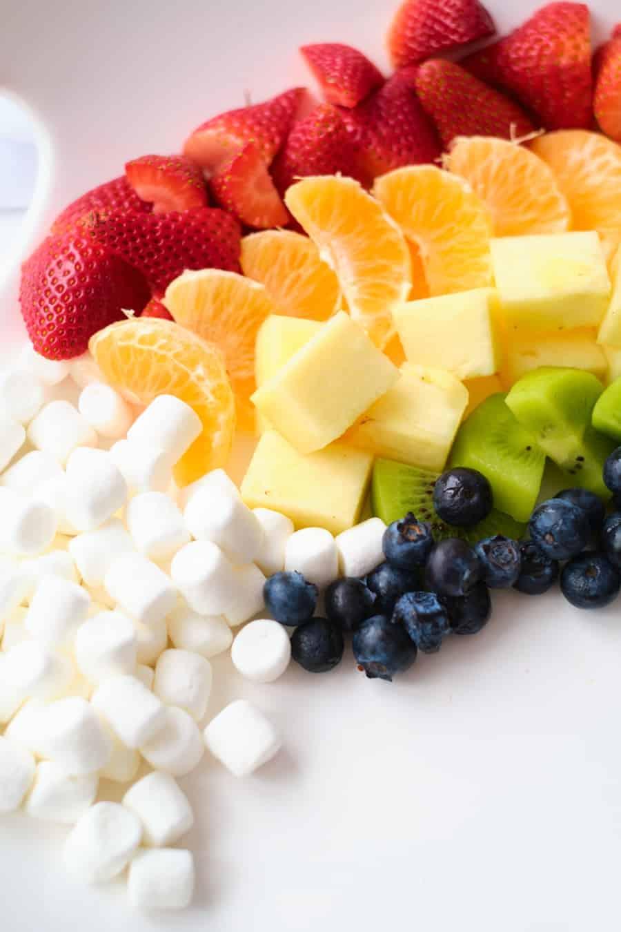 fresh rainbow fruit tray