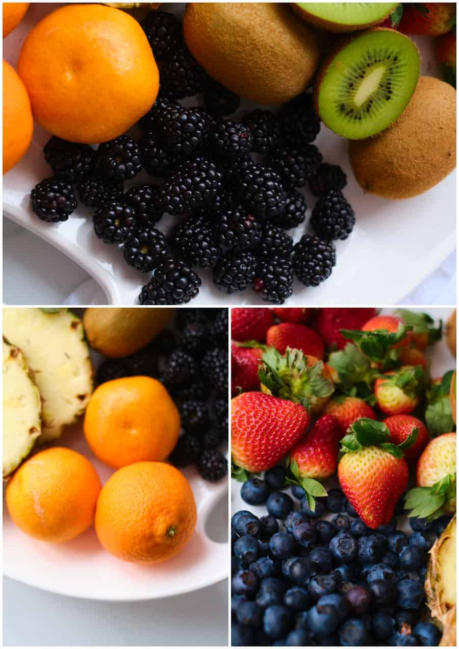 fresh blackberries and fruits