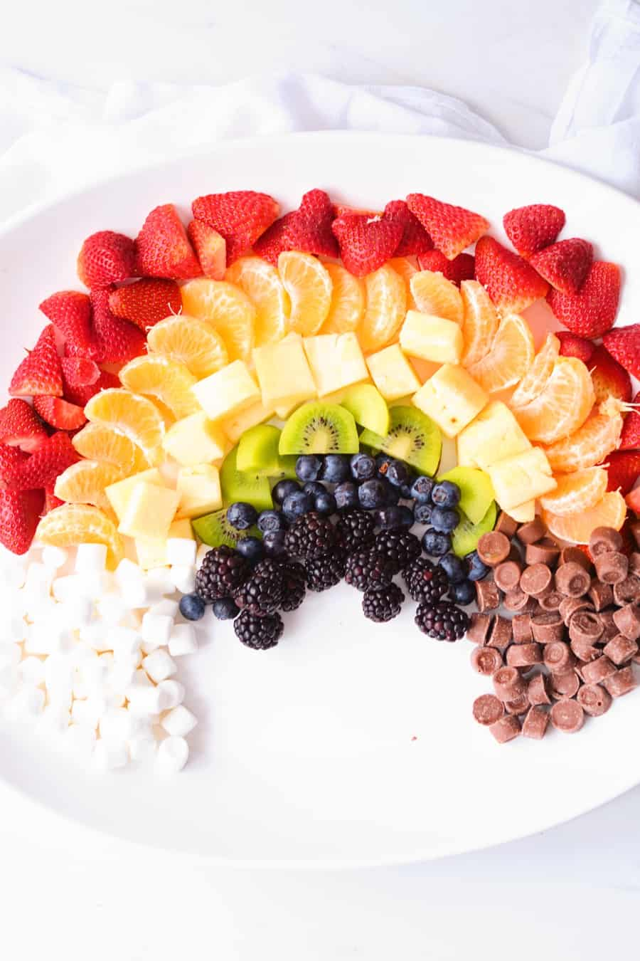 Rainbow Fruit Pot of Gold. Cute St. Patrick's Day Treat for Kids