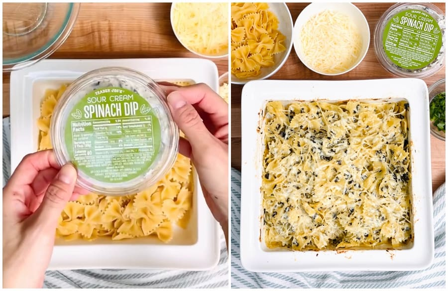 spinach dip baked pasta recipe hack