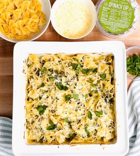 Spinach Dip Baked Pasta Recipe
