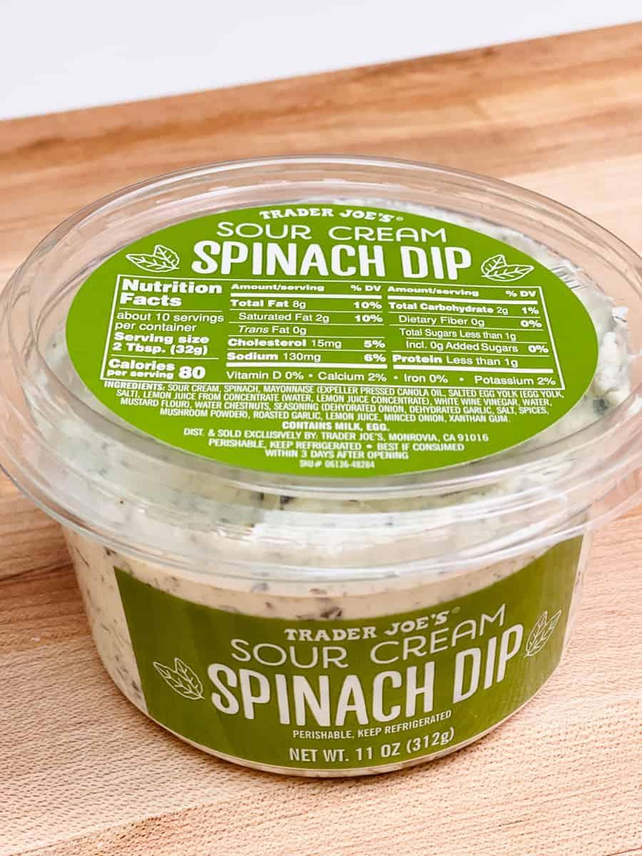 Trader Joe's Spinach Dip