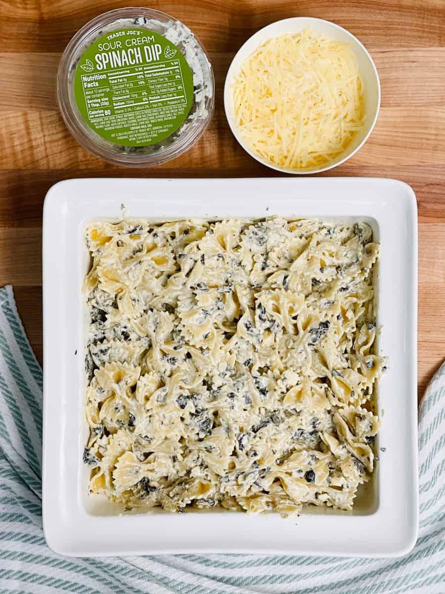Spinach Dip Baked Pasta Hack - Easy pasta dinner recipe