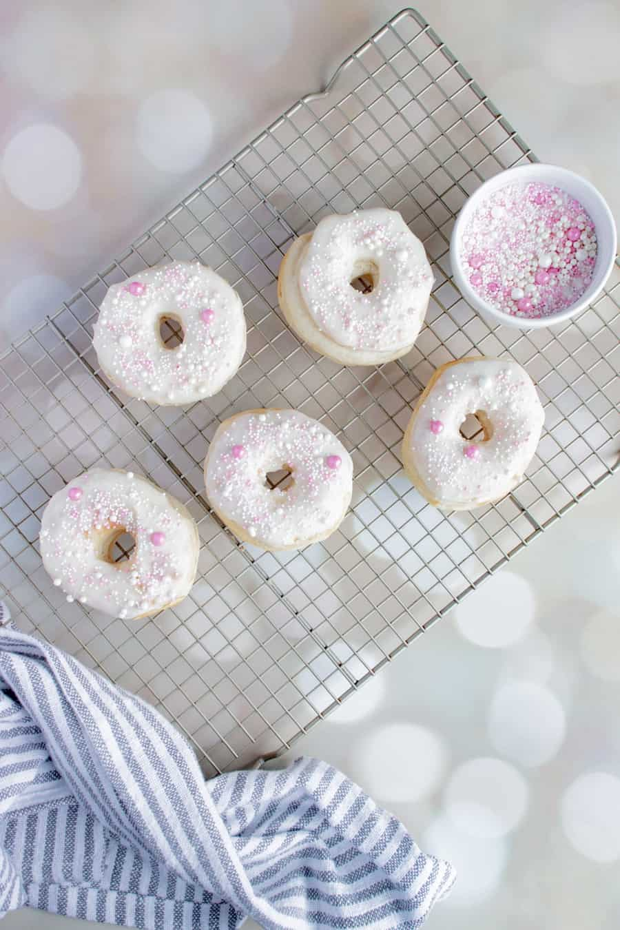 air fryer vanilla donuts
