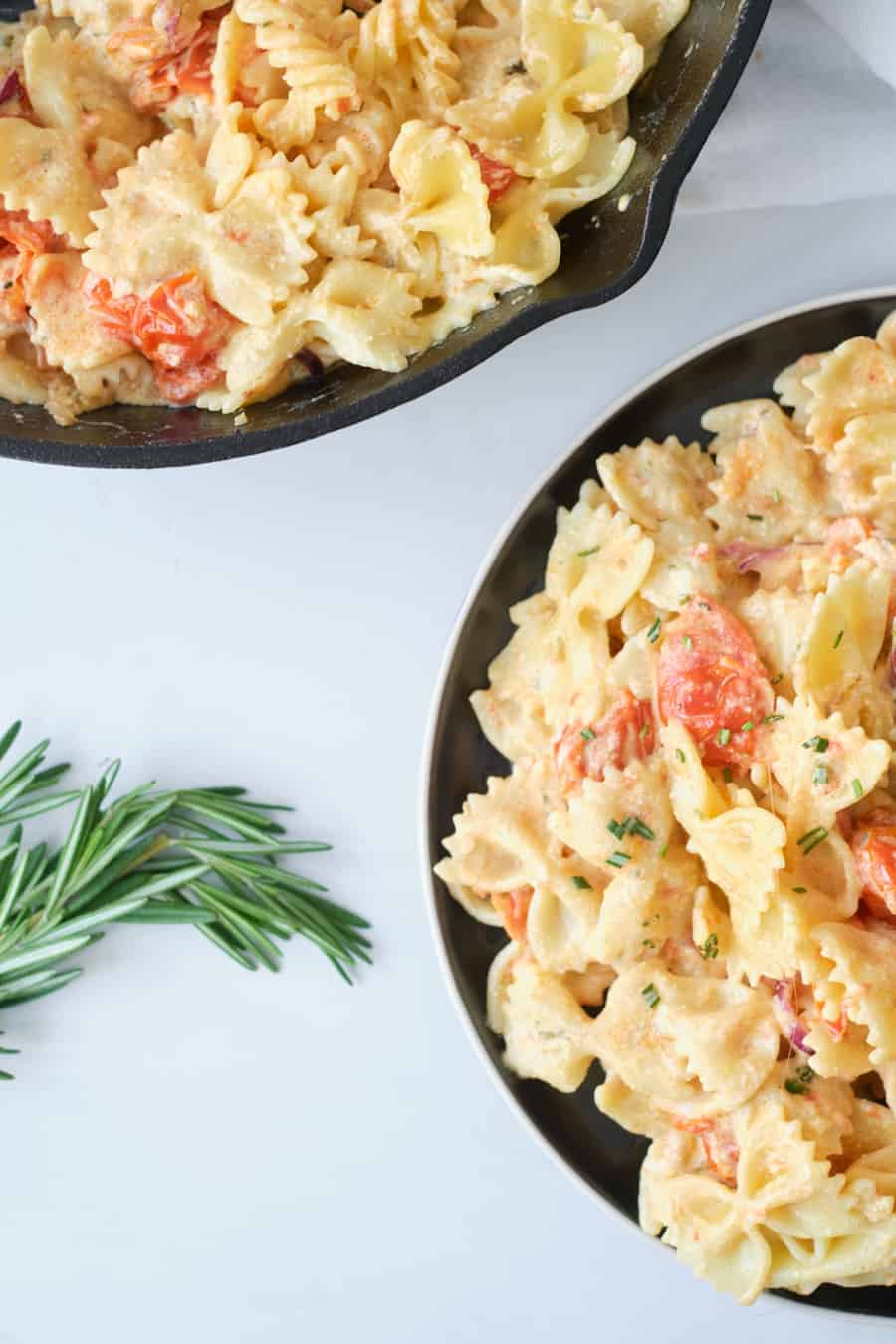 pasta with boursin cheese and tomatoes