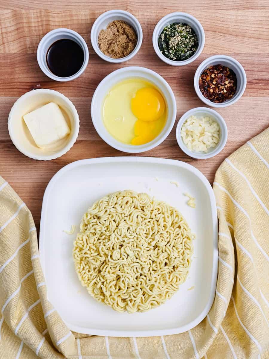 Ingredients for TikTok Ramen Recipe