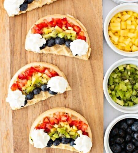Rainbow Fruit Waffles