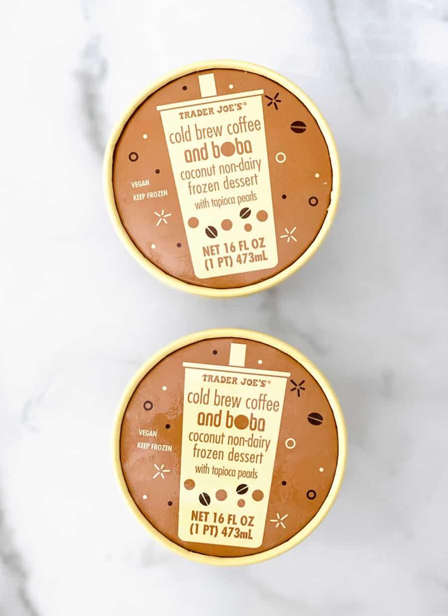 Trader Joe's Cold Brew Coffee Boba Ice Cream