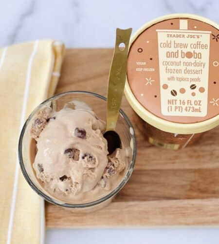 We Tried Trader Joe's Cold Brew Coffee Boba Ice Cream – Here's What It Tastes Like