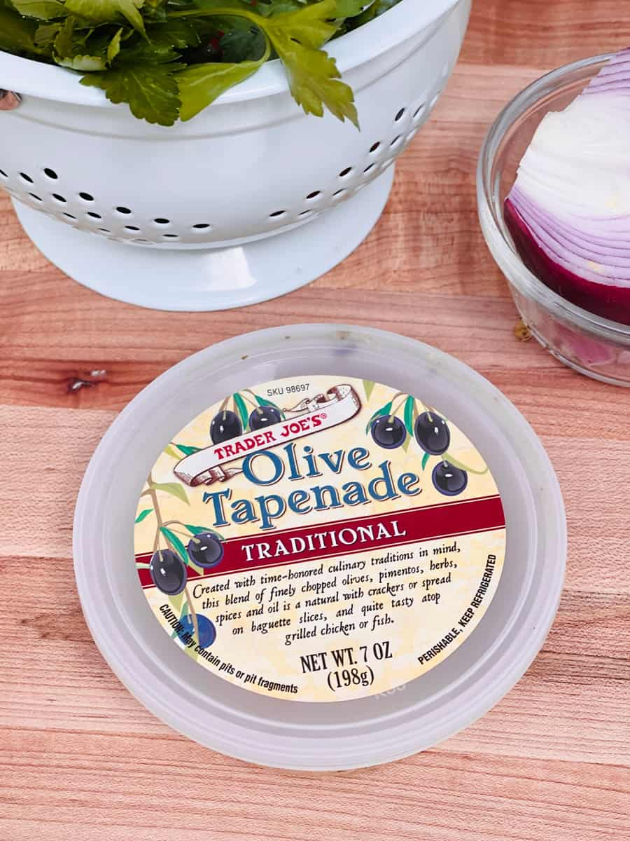 Tuna pasta with Trader Joe's Olive Tapenade