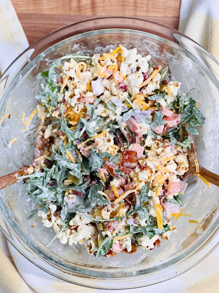 Popcorn Salad Recipe inspired by Molly Yeh's viral salad