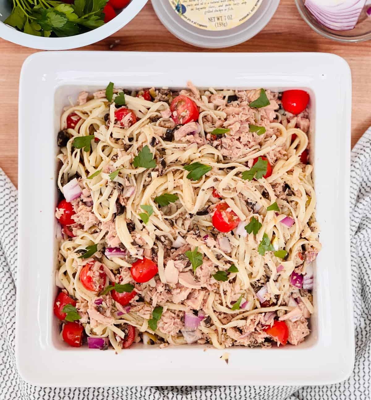 The Easiest Tuna Tapenade Pasta Recipe
