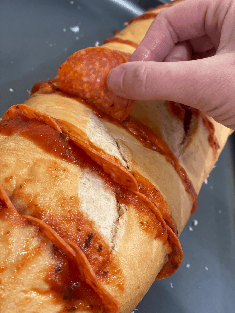 TikTok Pizza Baguette