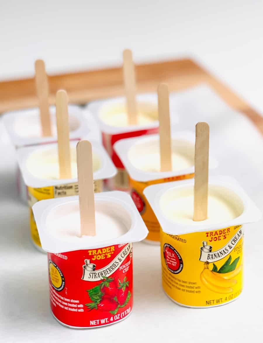 Frozen Yogurt Popsicle Hack
