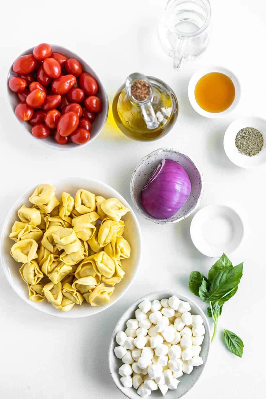 ingredients for tortellini salad
