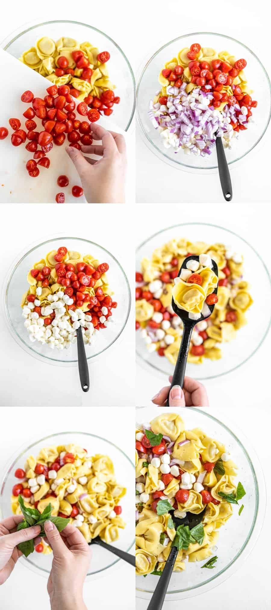 how to make tortellini salad process