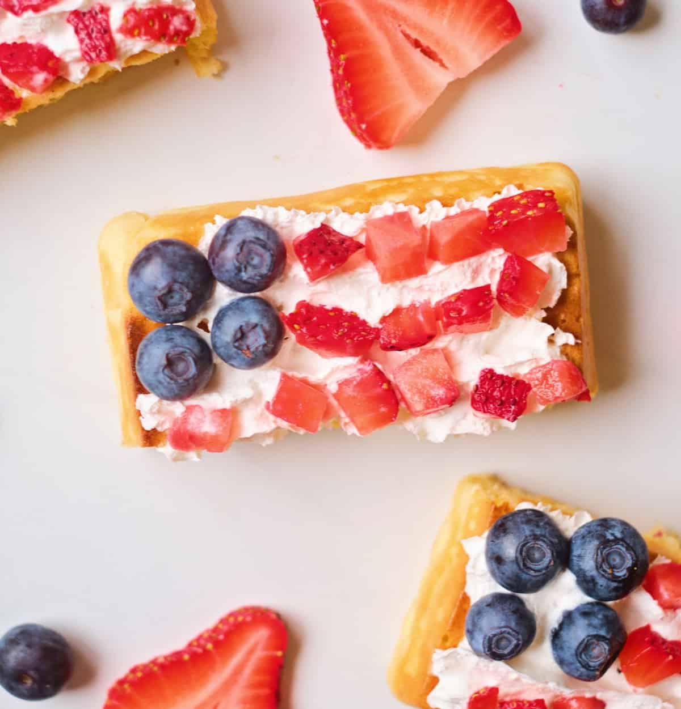 These Patriotic Flag Waffles Make a Cute Festive Treat!