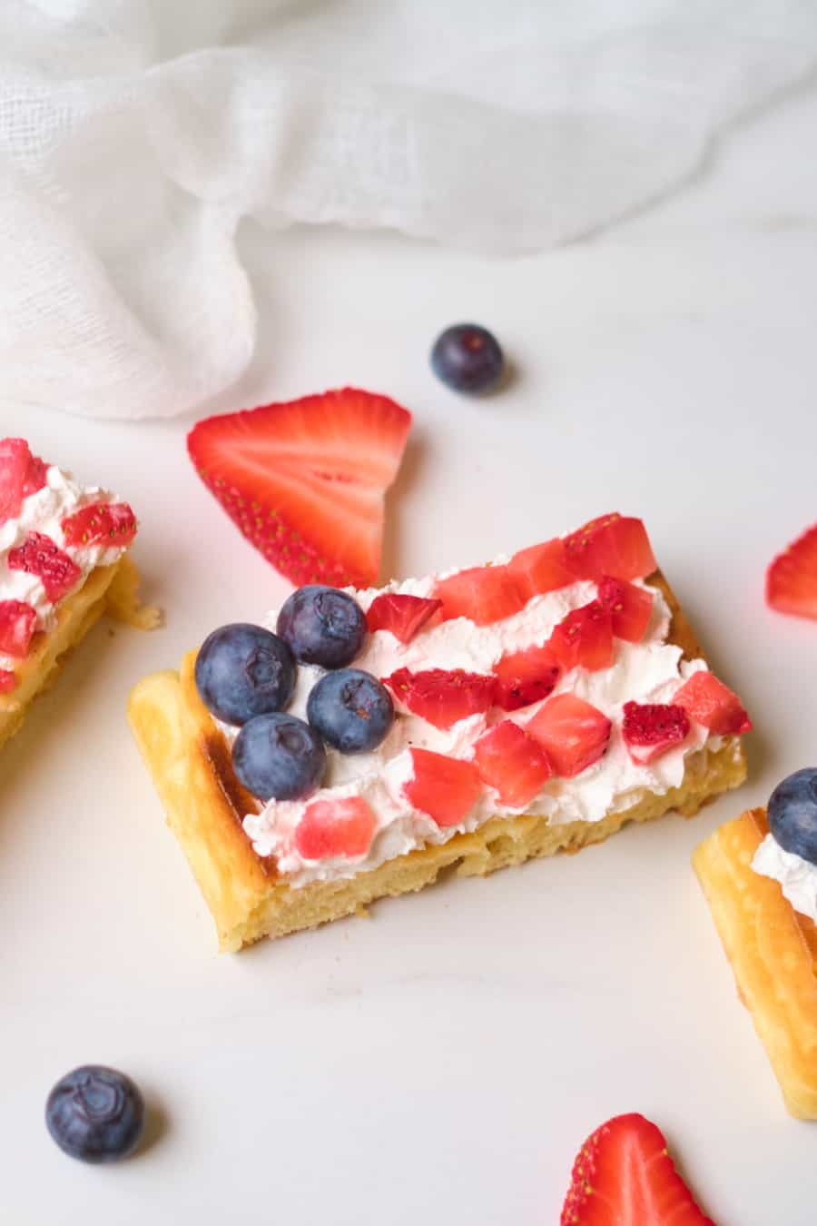 Patriotic Flag Waffles 4th of July Treat