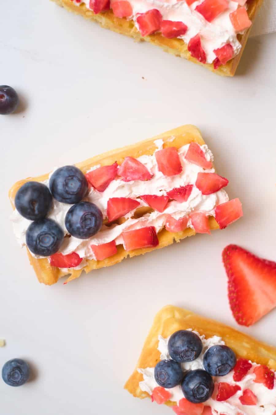 flag waffles patriotic treat