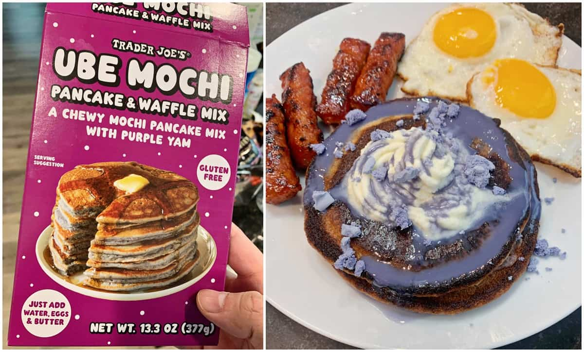 We Tried Trader Joe's Ube Mochi Pancake Mix And Made It Even More Delicious!