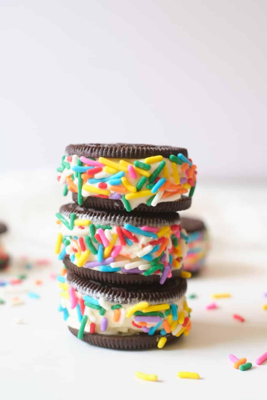 Oreo Cookie Ice Cream Sandwich