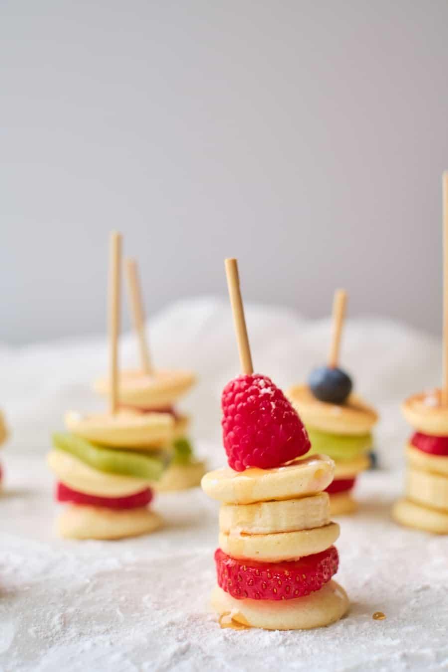 Fruit Mini Pancake Stacks