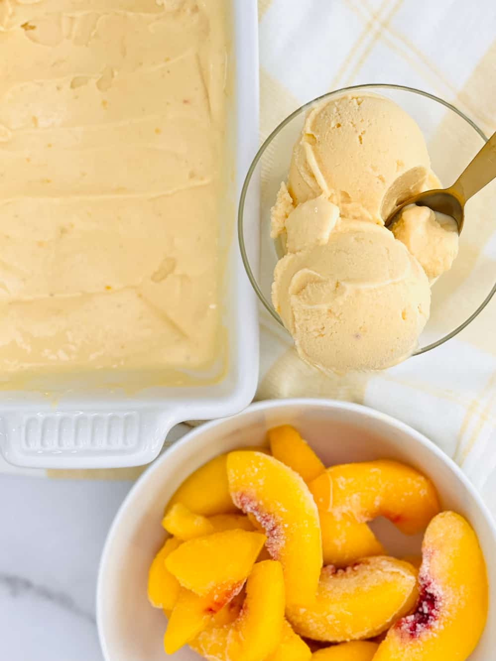 Two Ingredient Peach Sherbet Recipe