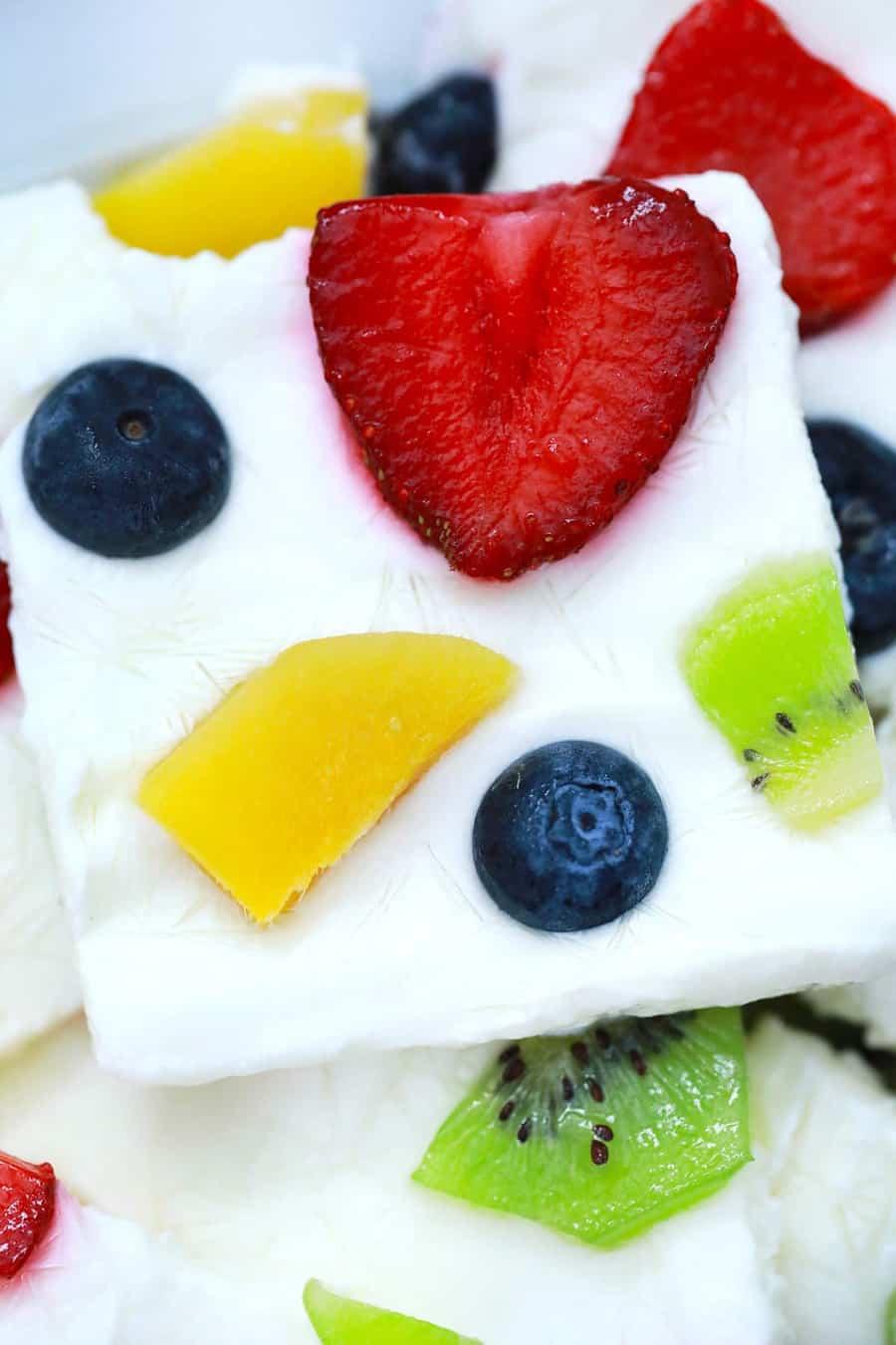 frozen yogurt bark
