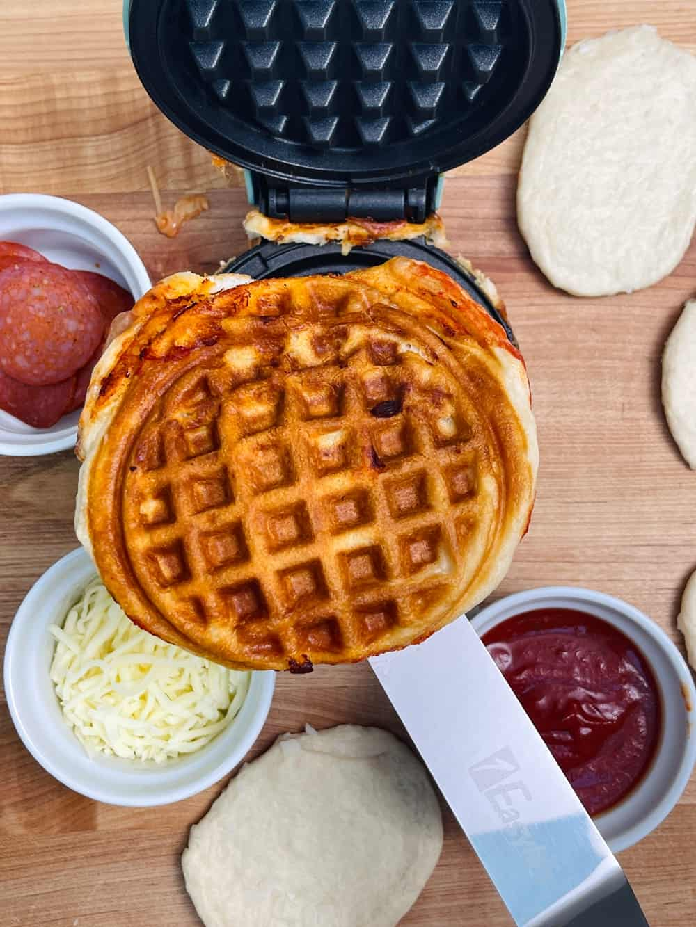 Biscuit Waffle Pizza