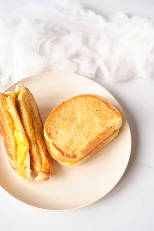 Garlic Bread Grilled Cheese Sandwich