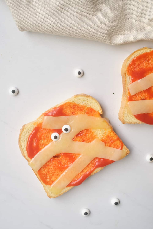 Halloween Mummy Toast