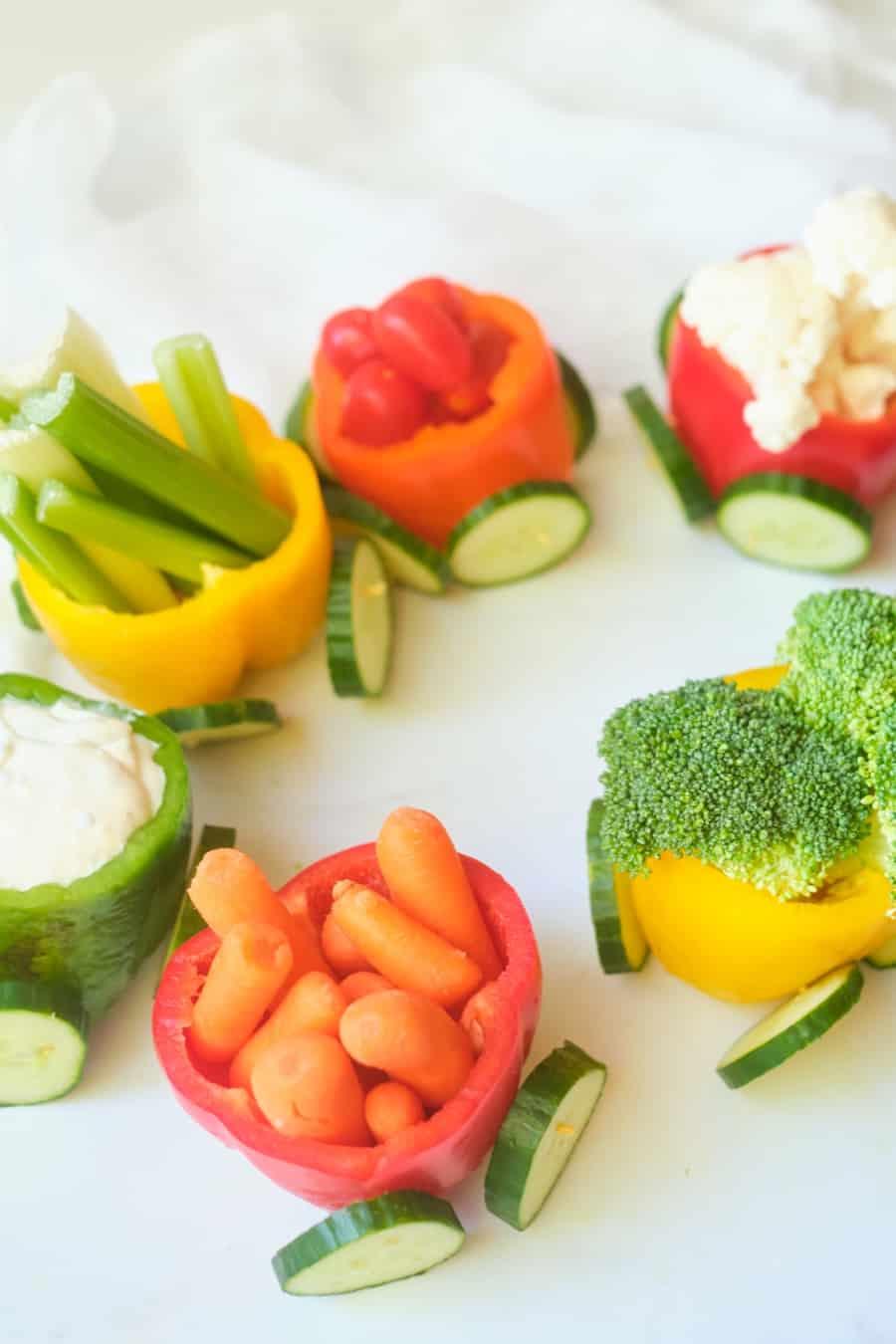 veggie train healthy snack for kids