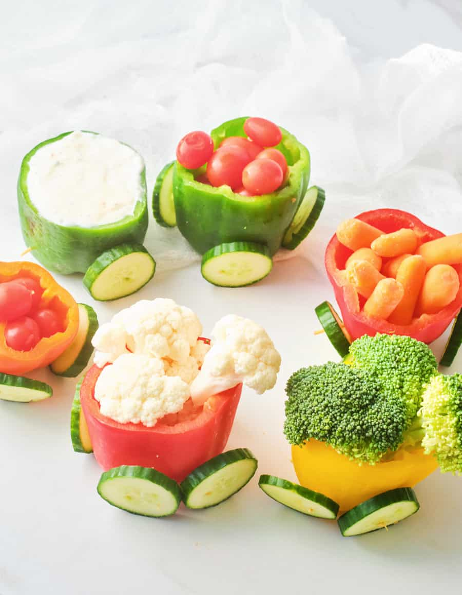 This Adorable Veggie Pepper Train is the Ultimate Healthy Snack For Kids