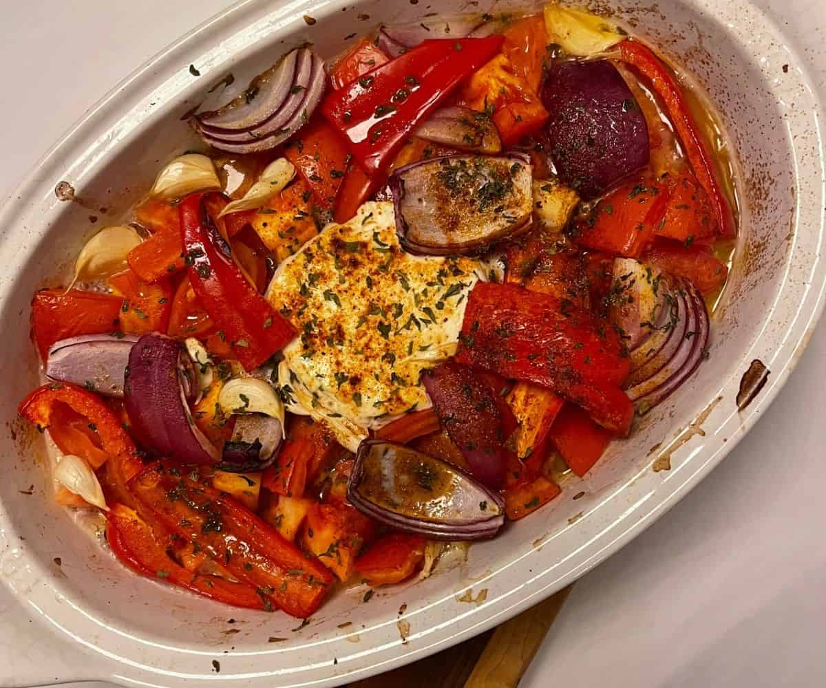 TikTok Boursin Baked Tomato Soup