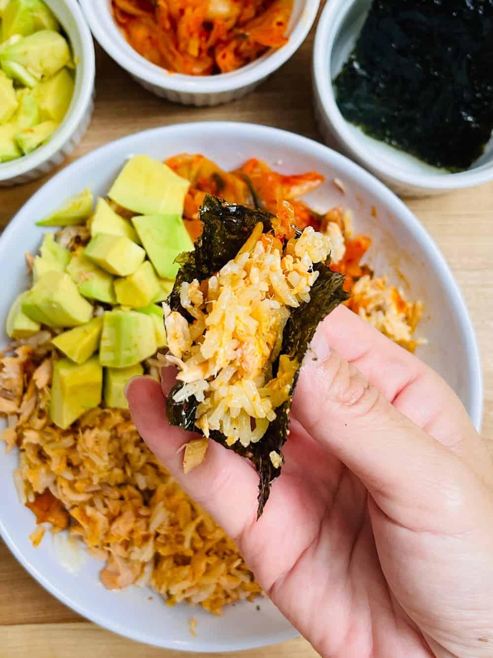 TikTok Salmon Rice
